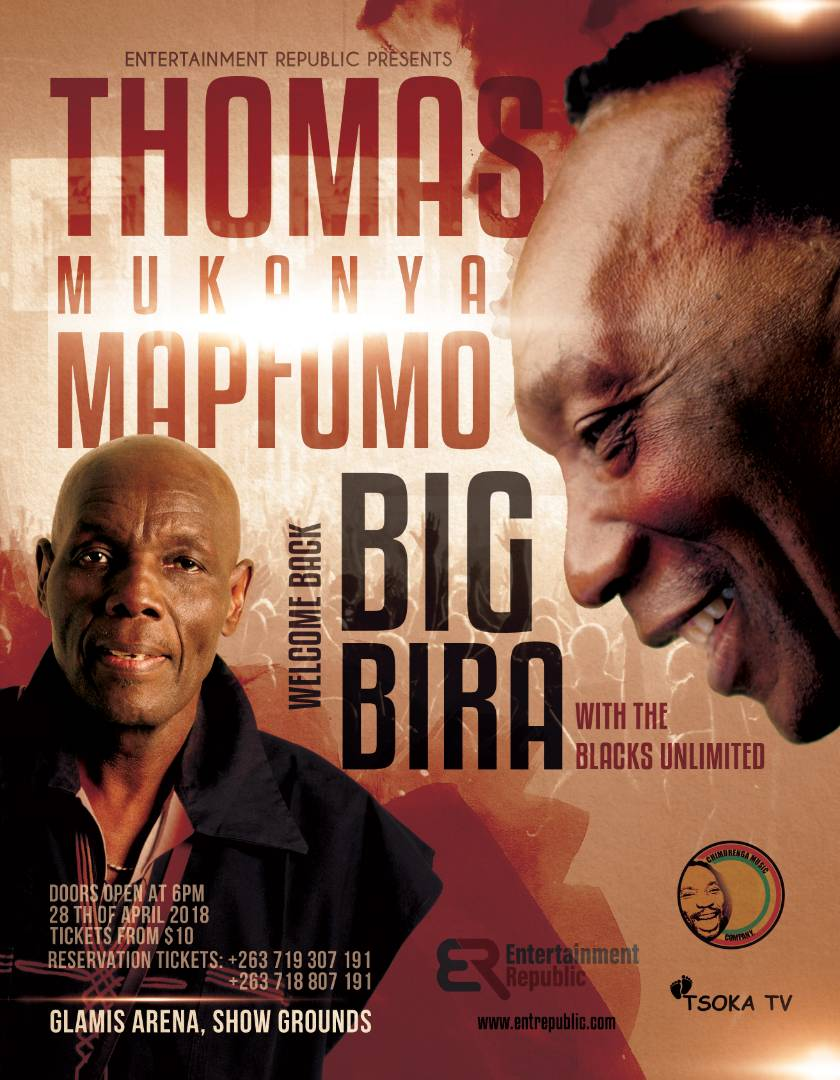 Buy Tickets - Thomas Mapfumo - Big Bira